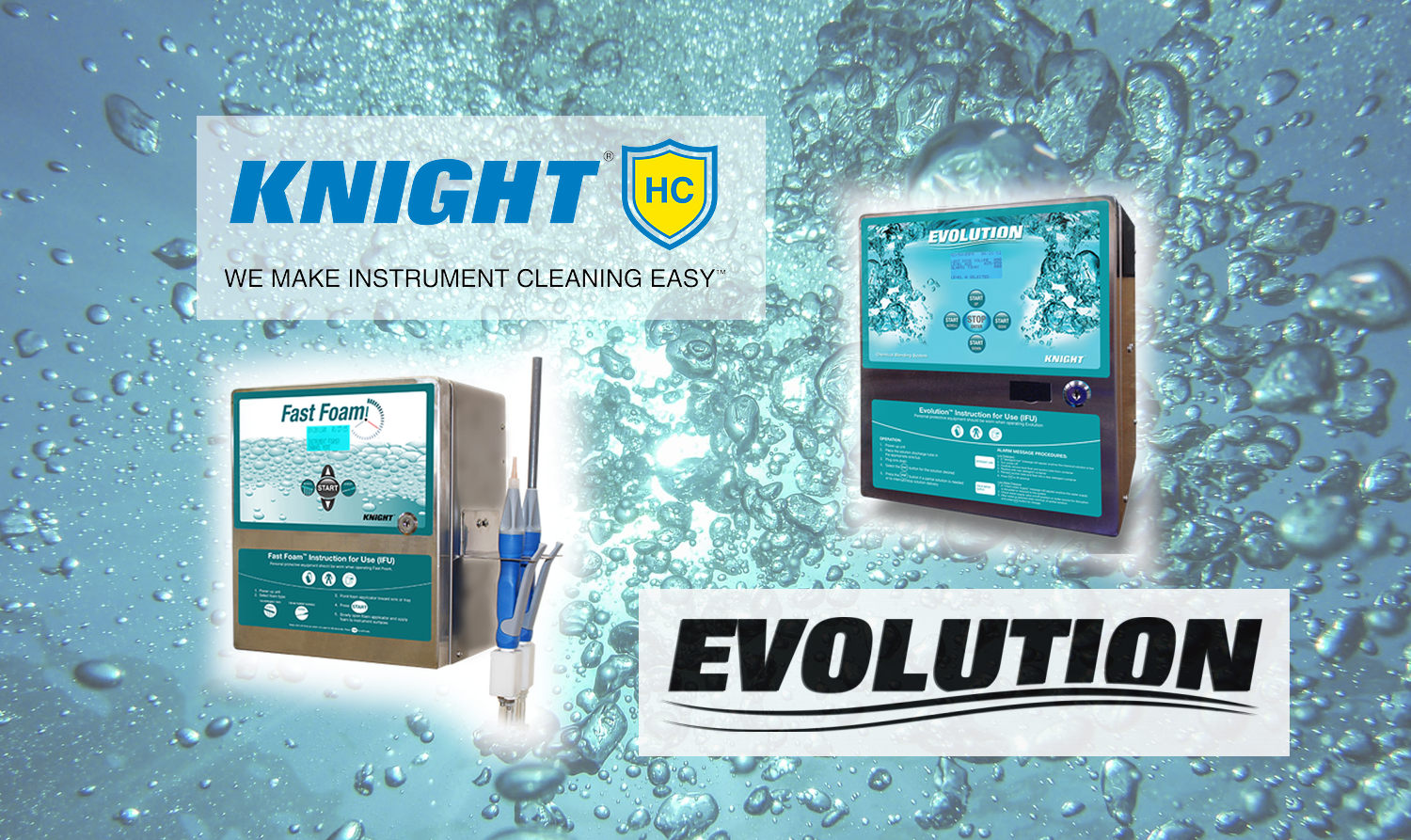 Fast Foam and Evolution Pumps from Knight Healthcare